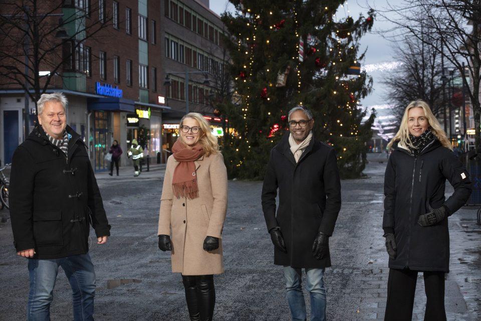 Anders Granberg, Anna Broström, Fredrik Hansson och Jenny Hellman.